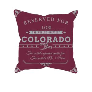 Personalized Custom Printed Colorado Hockey Fan Pillow Case