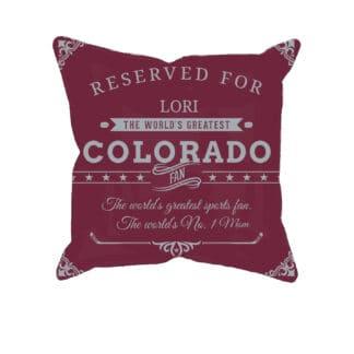 Personalized Custom Printed Colorado Hockey Fan Pillow Case