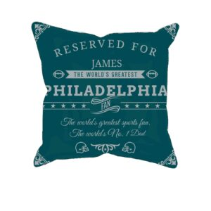 Personalized Philadelphia Football Fan Pillow Case