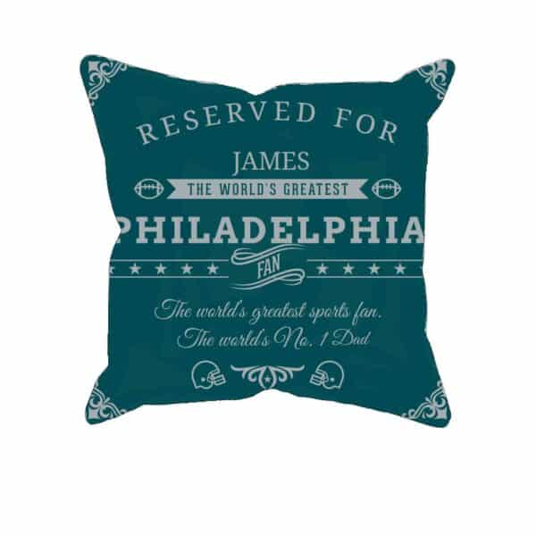 Personalized Philadelphia Football Fan Pillow Case