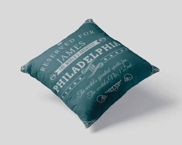 Personalized Philadelphia Football Fan Pillow Case view 1