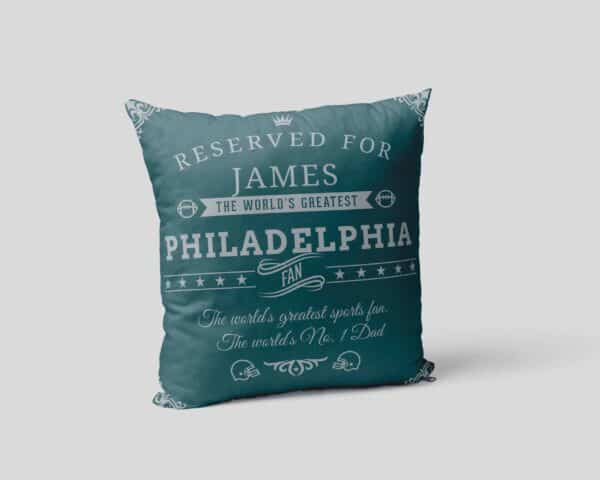 Personalized Philadelphia Football Fan Pillow Case view 2