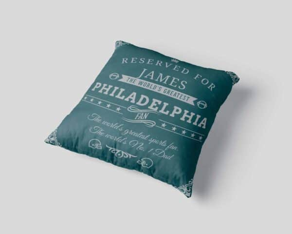 Personalized Philadelphia Football Fan Pillow Case view 3