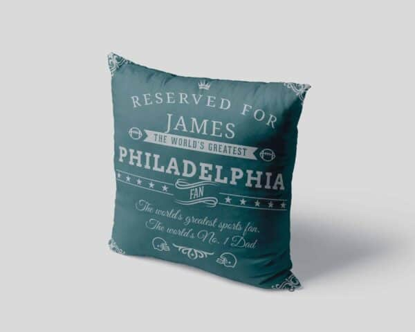 Personalized Philadelphia Football Fan Pillow Case view 4