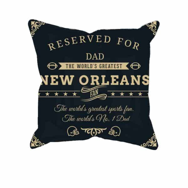 Personalized Printed New Orleans Football Fan Pillow Case