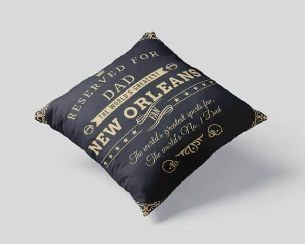 Personalized Printed New Orleans Football Fan Pillow Case View 1