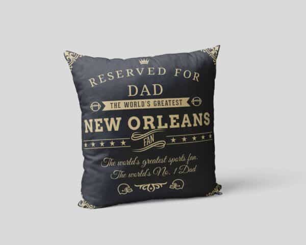 Personalized Printed New Orleans Football Fan Pillow Case View 2