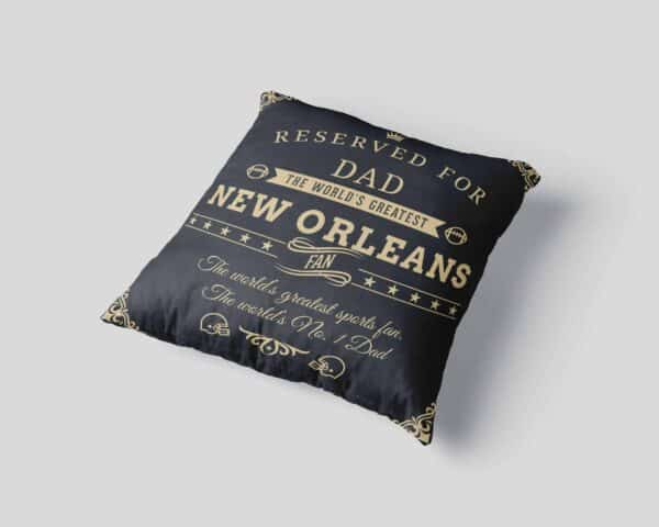 Personalized Printed New Orleans Football Fan Pillow Case View 3