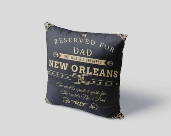 Personalized Printed New Orleans Football Fan Pillow Case View 4