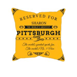 Personalized Printed Pittsburgh Football Fan Pillow Case