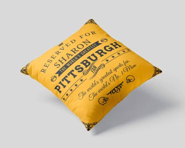 Personalized Printed Pittsburgh Football Fan Pillow Case Site 01