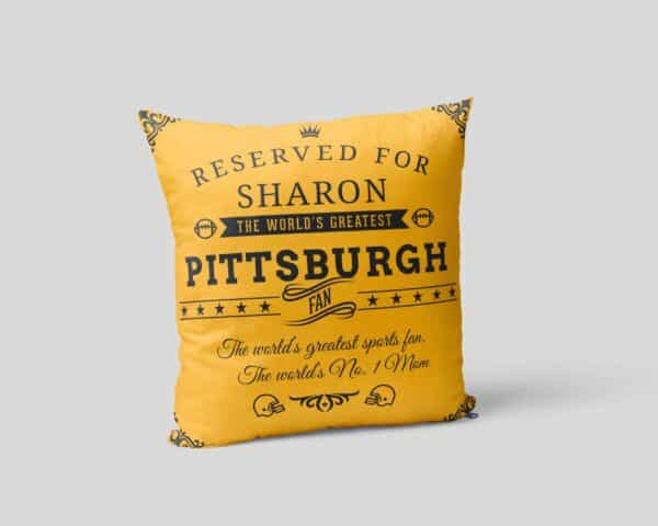 Personalized Printed Pittsburgh Football Fan Pillow Case Site 02