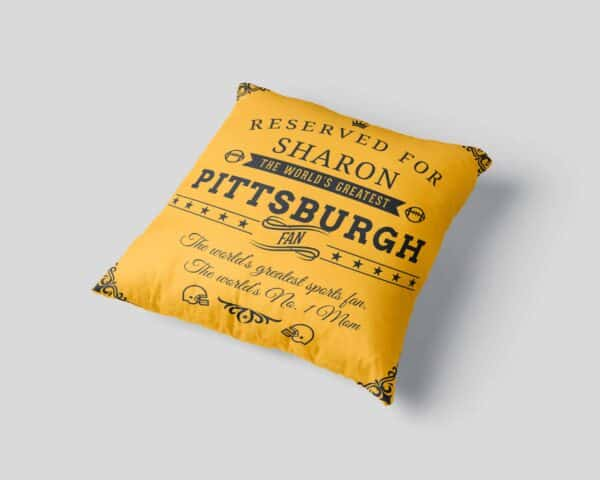 Personalized Printed Pittsburgh Football Fan Pillow Case site 03