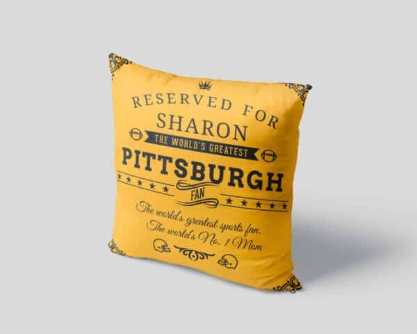 Personalized Printed Pittsburgh Football Fan Pillow Case site 04