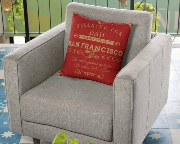 Personalized Printed San Francisco Football Fan Pillow Case
