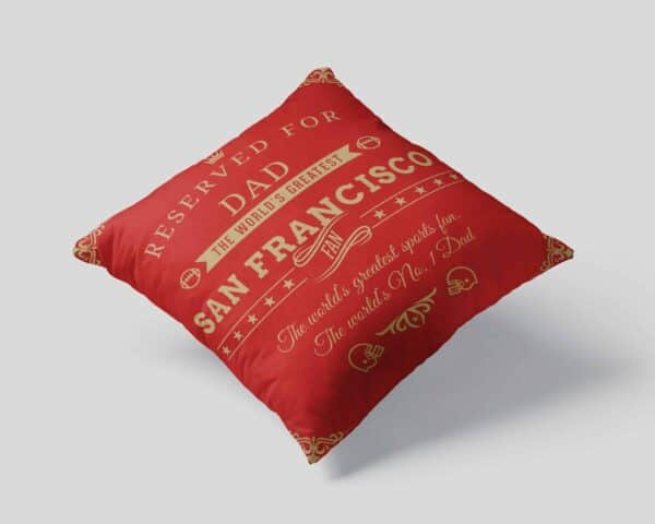 Personalized Printed San Francisco Football Fan Pillow Case View 1