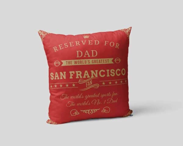 Personalized Printed San Francisco Football Fan Pillow Case View 2