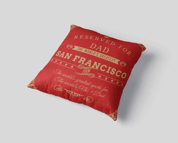 Personalized Printed San Francisco Football Fan Pillow Case View 3