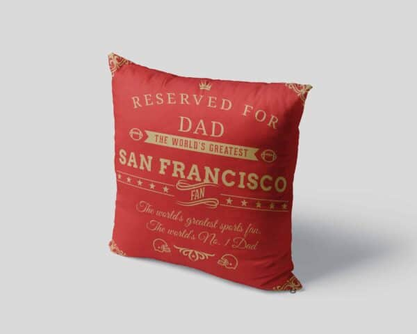 Personalized Printed San Francisco Football Fan Pillow Case View 4