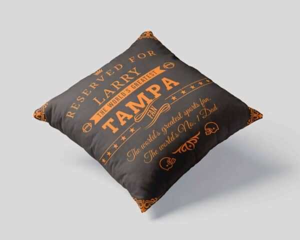 Personalized Printed Tampa Football Fan Pillow Case