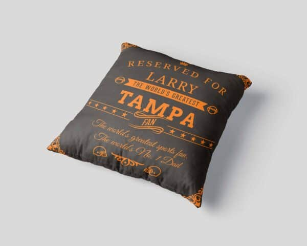 Personalized Printed Tampa Football Fan Pillow Case site 2