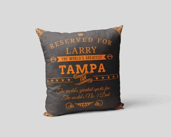 Personalized Printed Tampa Football Fan Pillow Case Site 3