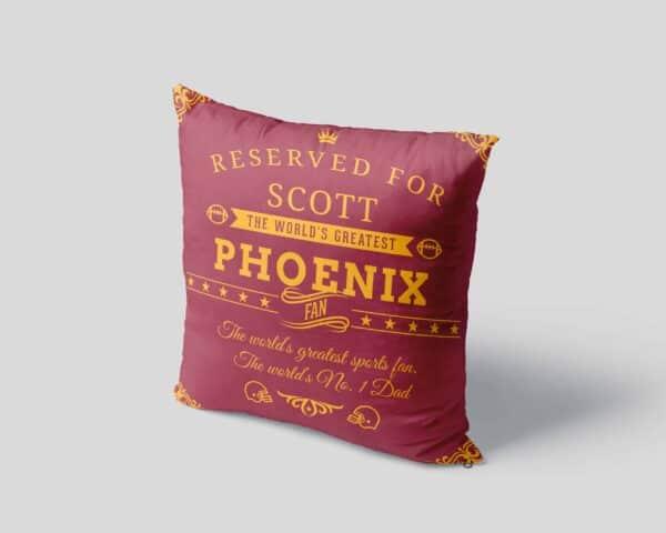 Phoenix Football Fan - Personalized Printed Pillow Case