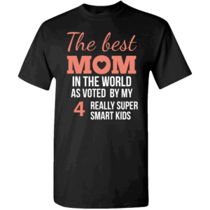 Voted Best Mom – Personalized Custom Printed T-shirts Design Black