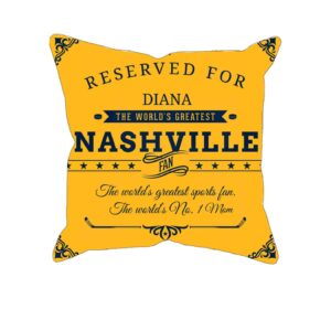Personalized Printed Nashville Hockey Fan Pillow Case