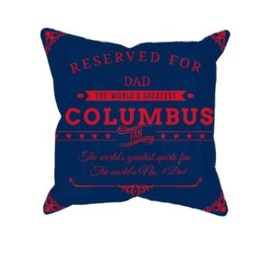 Personalized Columbus Hockey Fan Printed Pillow Case