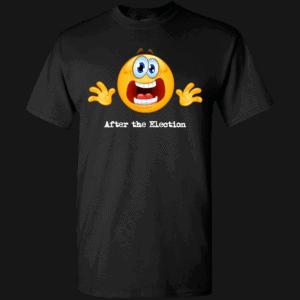 Custom Printed Emoji After the Election T-Shirt Black