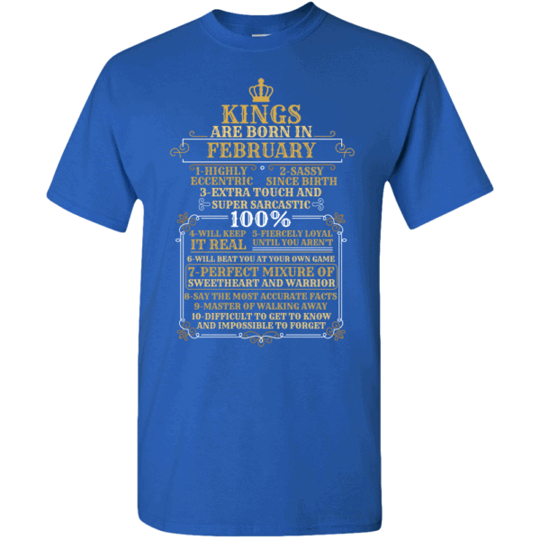 Personalized Kings Are Born T-Shirt Design Royal