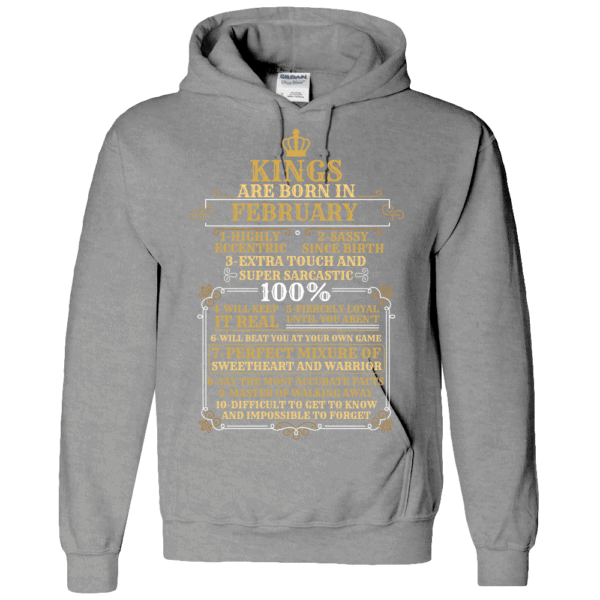 Personalized Kings Are Born Hoodie Design Athletic Heather