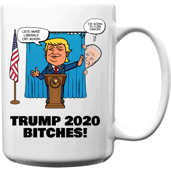 Biden Trump Custom Printed Coffee Mug 15oz White