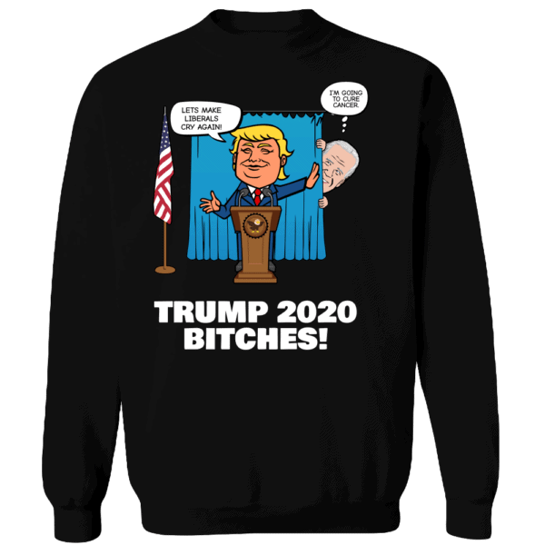 Biden Trump Custom Printed Crewneck Sweat Shirt Black