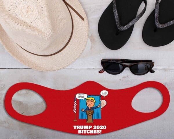 Biden Trump Custom Printed Face Mask Fitted All Over Print
