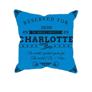 Charlotte Football Fan Personalized Printed Pillow Case