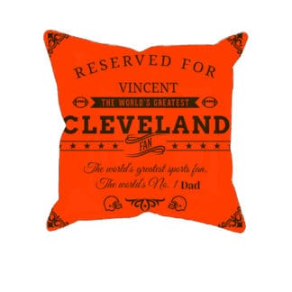 Cleveland Football Fan Personalized Printed Pillow Case