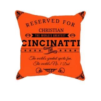 Cincinnati Football Fan Personalized Printed Pillow Case