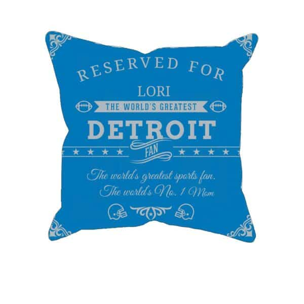 Detroit Football Fan Personalized Printed Pillow Case
