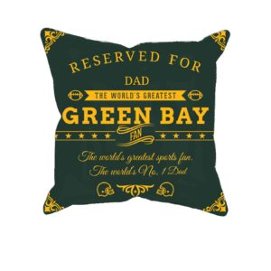 Green Bay Football Fan Personalized Printed Pillow Case