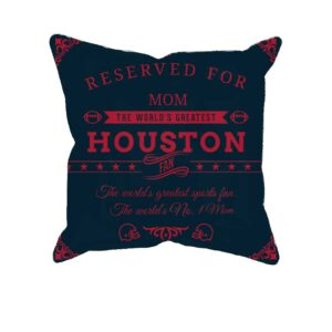 Houston Football Fan Personalized Printed Pillow Case