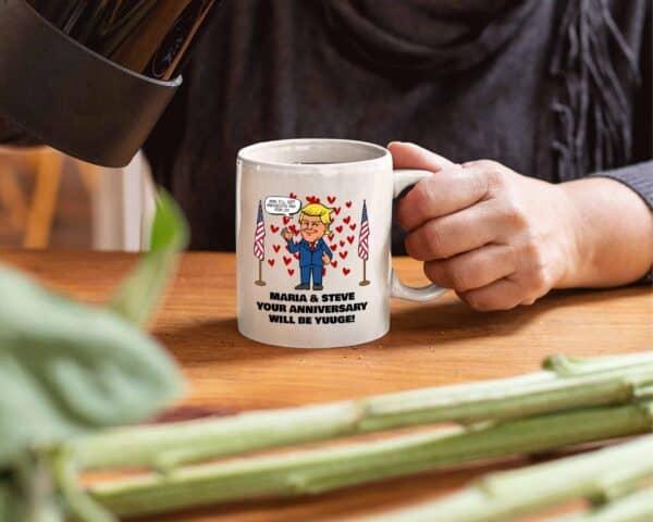 Huuge Anniversary - Trump Personalized Printed Coffee Mug 11oz White