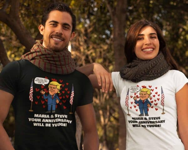 Huuge Anniversary - Trump Personalized Printed T-Shirt