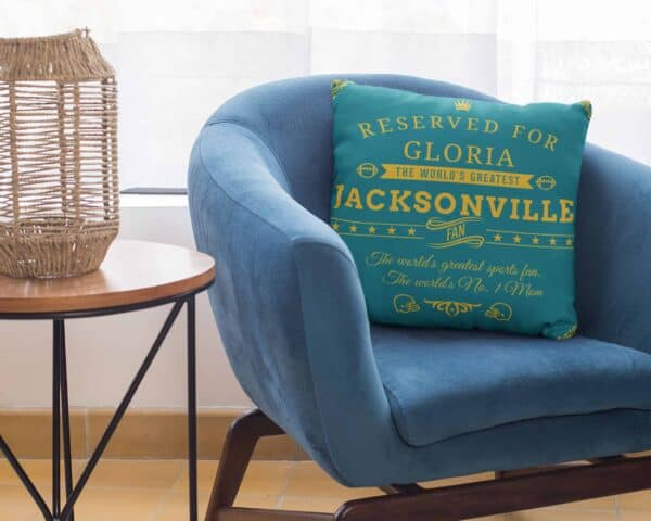 Personalized Printed Jacksonville Football Fan Pillow Case