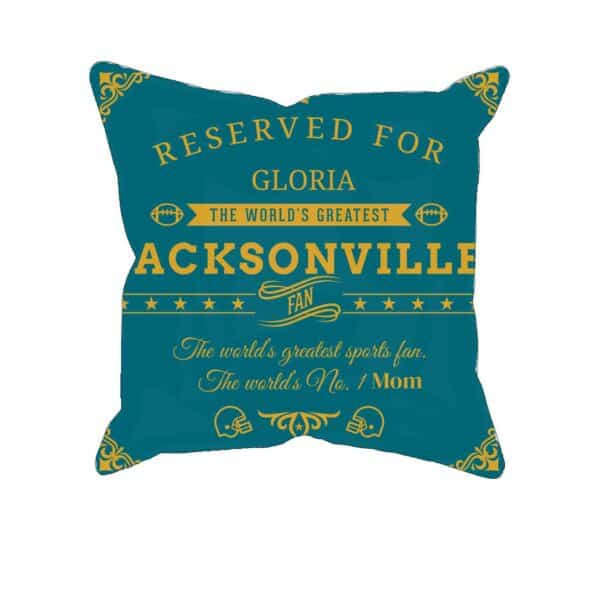 Jacksonville Football Fan Personalized Printed Pillow Case
