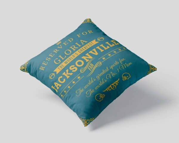 Personalized Printed Jacksonville Football Fan Pillow Case pillow mockup View1