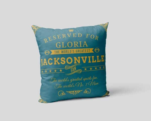 Personalized Printed Jacksonville Football Fan Pillow Case pillow mockup View2