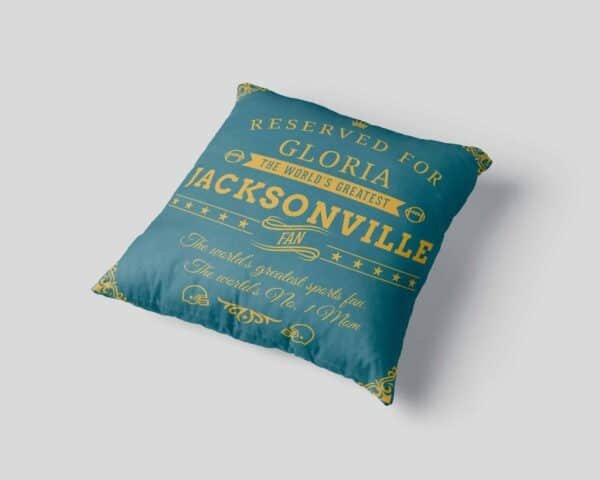 Personalized Printed Jacksonville Football Fan Pillow Case pillow mockup View3