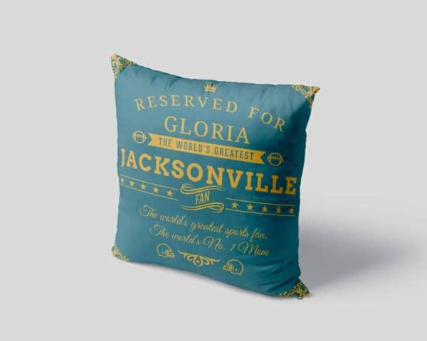 Personalized Printed Jacksonville Football Fan Pillow Case pillow mockup View4
